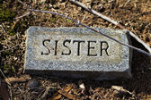Sister Granite Gravestone Marker — Stock Photo