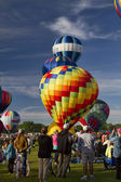 Colorful Hot Air Balloon Lift Off 6 — Stock Photo