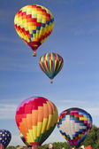 Colorful Hot Air Balloon Lift Off — Stock Photo