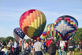 Colorful Hot Air Balloon Lift Off 3 — Stock Photo