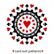 Heart card suit snowflake — Stock Vector #32524395