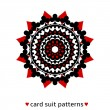 Stockvector : Card suit conceptual ornament