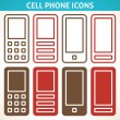 Постер, плакат: Cellphone and smartphone abstract icons