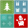 Set of Christmas symbols — Imagen vectorial