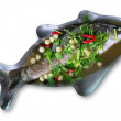 Fish in the marinade — Stock Photo