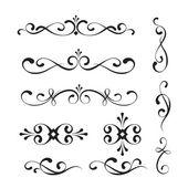 Decorative elements and ornaments — Stock Vector