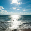 Sun beam and sea andaman — Stock Photo
