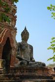 Ancient image buddha statue in Thailand — Stockfoto