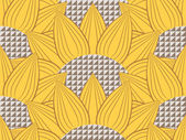 Pattern with sunflowers and Technology — Stock Photo