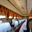 Elegant railway dining car — Stock Photo