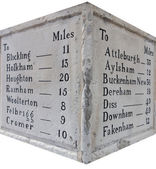Stone Mileage Marker — Stock Photo