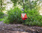 Orienteering Equipment in the Forest — Stock Photo