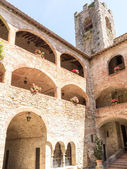 Castle Tower and Arches — Stock Photo