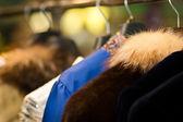 Clothes rack — Stock Photo