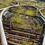 Railroads track points — Stock Photo