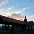 Orthodox Church at sunset — Stock Photo