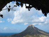 Sagoma climber della roccia — Foto Stock