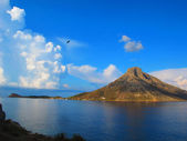 Telendos view from Kalymnos, Greece — Stock Photo