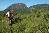 Trekking nel parco nazionale di serra geral, brasile — Foto Stock