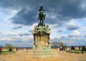 Statua del principe eugenio di savoia, budapest — Foto Stock