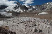 ледовых образований на саммите аконкагуа — Стоковое фото