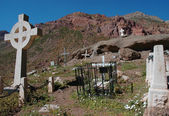 Andinistas Cemetery, Aconcagua — Stock Photo