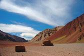 Mountain Landscape at Aconcagua summit — Stock Photo