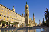 Plaza del Pilar, Zaragoza, Spain — Stock Photo