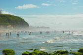Brasilianska beach, torres, rio grande sul — Stockfoto