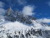 Franse Alpen in de winter, chamonix — Stockfoto