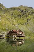 Balea lake panorama, făgăraş bergen, rumänien — Stockfoto