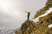 Reaching the summit — Stok fotoğraf