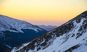 Sunset in Carpathian mountains — Stock Photo