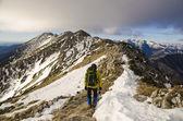 Trekking in Romanian mountains — Stock Photo