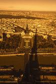 Paris, France - aerial city view — Stock Photo
