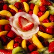 Stock Photo: Custard Fruit Tart Pastry