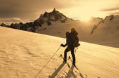 Ski mountaineering — Stock Photo