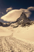 Matterhorn peak, Zermatt, Switzerland — Stock Photo