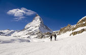 Alpine Touring in Swiss Alps — Stock Photo