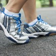 Tying sports shoe — Stock Photo #29866039
