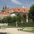 The Prague Castle from the Wallenstein Garden — Stockfoto