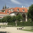 The Prague Castle from the Wallenstein Garden — Stok fotoğraf