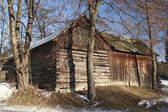 Old Timbered Barn — Stock Photo