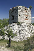 Artillery Tower of Devicky Castle — Stock Photo