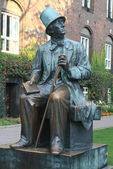 Statue of H. Ch. Andersen in Copenhagen — Stock Photo