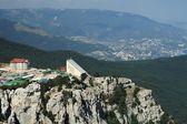 Bergstation der aj-petri seilbahn road — Stockfoto