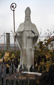 Statue of St. Urban - the patron saint of winemakers — Stock Photo