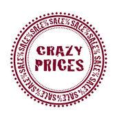 Gekke prijzen-stempel — Stockvector