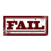 Fail — Stock Vector