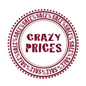 Crazy Prices-stamp — Stock Vector
